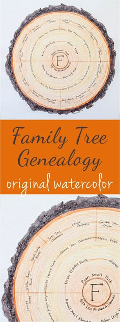 DIY project Family Tree Genealogy original watercolor | Product for sale on The DiY Lighthouse | Home decor wall art painting made with love | Creative and custom family tree artwork