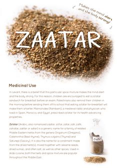 Health benefits of Zaatar — The Spice Detective