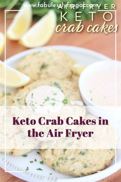 Enjoy easy homemade crab cakes in the air fryer! This recipe is gluten-free and keto friendly. Bhg Recipes, Best Gluten Free Recipes, Side Dish Recipes, Recipies, Dinner Recipes, Crab Cake Sauce, Homemade Crab Cakes, Seafood Recipes, Chicken Recipes