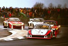 Porsche DOHC 3211 cc ' Moby Dick' driven by Jochen Mass & Jacky Ickx leads Porsche at the 1978 Silverstone 6 Hrs Road Race Car, Road Racing, Race Cars, Auto Racing, Martini Racing, Race Engines, Ford Capri, Porsche 911 Gt3, Toyota Celica