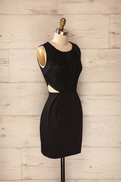 Armis - Black lace cut-out dress