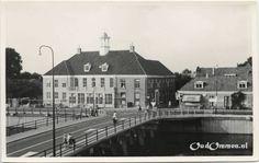 Vechtbrug, Gemeentehuis, Ommen. 1955