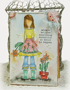 In My Little Korner: Always Believe...watercolored Unity Stamp Co. image and sentiment stamps