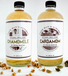 Cardamom Syrup & Chamomile Syrup Set | Get your hands on this pair of craft cocktail, homemade soda o... | Cocktail Mixes