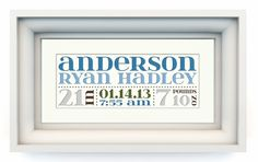 Cut Paper Personalized Birth Announcement by sweetandsalvaged, $40.00.  Love this for the wall