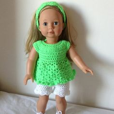 PDF Crochet pattern for 18 inch doll American Girl by petitedolls, £2.50