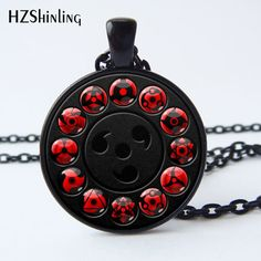 HZShinling 2017 New Glass Naruto Shippuden Pendant Round Pendant Chain Necklaces Black Vintage Necklace for Women Men HZ1 #Affiliate