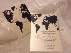 Love Knows No Distance  Travel - Inspired Wedding Invitation Suite - DEPOSIT