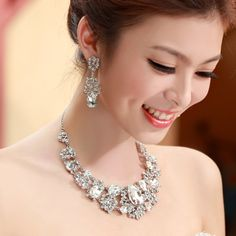 Urged sets chain bride rhinestone necklace married necklace 2014 wedding accessories the bride necklace 153 US $57.18