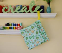 12x12 Boy's Wet Bag  Zippered Hanging Wet Bag  Cloth by WetBagIt, $13.99 Use coupon code CyberMonday2013 at check out to receive free shipping