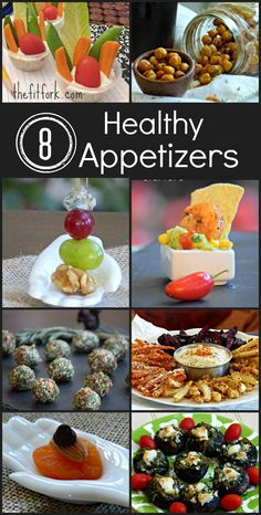 Eight Healthy Appetizers under 100 calories - Perfect finger foods for a New Year's Eve party or any celebration - TheFitFork.com