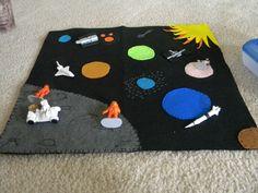 Cute space playmat
