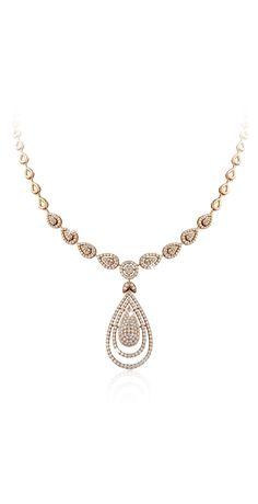 Liali Jewelers Rose gold diamond necklace (=)