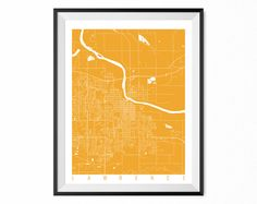 LAWRENCE Map Art Print / Kansas Poster / Lawrence Wall Art Decor / Choose Size and Color