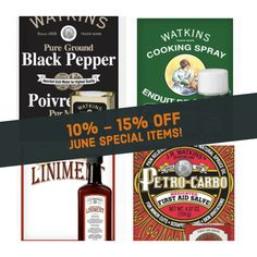 How many companies do you know that have bee in business 150 years and still going strong with customer favorite products? Still lots of the traditional products and on sale this month! http://www.Watkins1868.com/Tamara