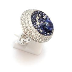 "Chanel Sapphire Diamond Gold ""Comete"" Collection Nuit Etoilee Ring"