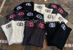 Monogrammed BOOT CUFFS CHARCOAL-Preppy-personalized-cuff-bridal party-sorority- by sassygatormonograms on Etsy https://www.etsy.com/listing/206996183/monogrammed-boot-cuffs-charcoal-preppy
