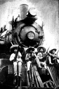 bandidos on a locomotive