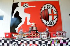 Soccer Party Table #soccer #party