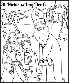 Audrey Eclectic Folk Art: FREE Printable: St. Nicholas Day!                                                                                                                                                                                 More