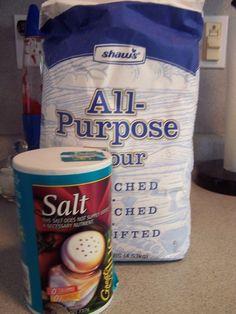 Ingredients for Salt and Flour Dough - Susan Caplan