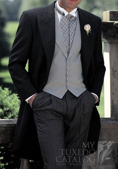 Grey 'Somerset Cutaway' Tuxedo... I like the jacket and the trousers for my mister.