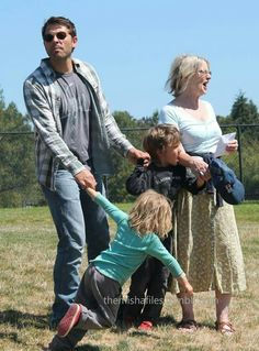 Misha with his mama and two sugared up children