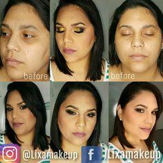 Makeup Transformation #makeup #beforeandafter