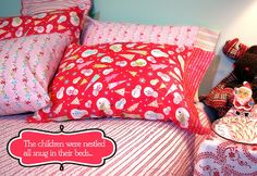 Pillowcases are easy and fast to make. You can mix and match fabrics for a quick gift you can tailor for anyone.