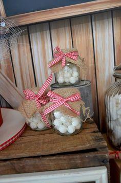 Boys Barnyard Themed Birthday Party Candy Jar Ideas