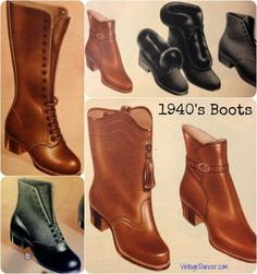 Vintage Fashion: 1940s Style Boots