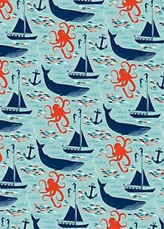 Nautical Wrapping Paper? This makes me think of The Great Gatsby and I'm not sure why. Or even The Old Man and the Sea. Would use a quote by either and make letters out of this.