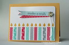 Birthday Candles (wheel), Sweet Essentials - Stampin' Up!
