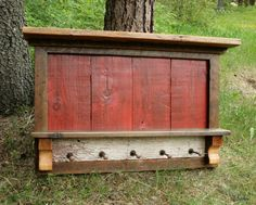 Rustic Reclaimed Barnwood Entry Shelf by EchoPeakDesign on Etsy https://www.etsy.com/listing/91846449/rustic-reclaimed-barnwood-entry-shelf