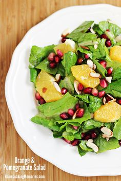 Orange and Pomegranate Salad featuring @aerogarden  from @HomeCookMemory