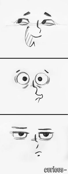 In this lesson, learn how to draw cartoon eyes that show annoyance, insincere happiness, and surprise.