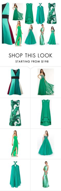"""""""prom green dresses"""" by mumi55 ❤ liked on Polyvore featuring FAUSTO PUGLISI, Alyce Paris, Dolce&Gabbana, BCBGMAXAZRIA, Michelle Mason, Madison James and Jay Ahr"""