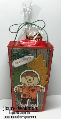 Fall Friday Week - Popcorn Box by - Cards and Paper Crafts at Splitcoaststampers Up Halloween, Halloween Crafts, Halloween Cookies, Stampin Up Cookie Cutter, Thanksgiving Cards, Thanksgiving Decorations, Treat Holder, Fall Cards, Stamping Up