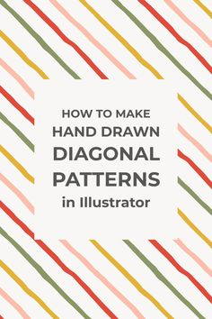 In this short and easy tutorial, I want to show you how to make seamless hand-drawn diagonal patterns in Illustrator using your scanned artwork. Photoshop For Photographers, Photoshop Photography, Creative Photography, Diy Art, Photoshop Website, Adobe Illustrator Tutorials, Vintage Typography, Vintage Logos, Retro Logos