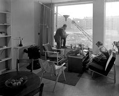 Amsterdam Slotermeer - interieur modelwoning - 1954