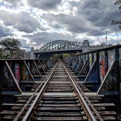 Happiness hit her like a train on a track #boston #bostonicon #bostondotcom #autumn #fall #architecture #railway #rail #train #cambridge #charles #clouds #newengland #igersnewengland #igersboston #igersmass #igboston #bu #bostonuniversity by marcusebaker