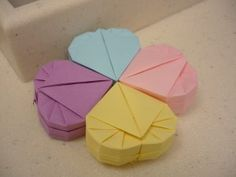 Origami heart boxes with one piece of paper!