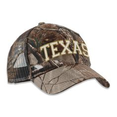 Texas Arched Word - Camo Cap [5363CPCM] : Outhouse Designs Screen Print T-shirt Store, Keep Austin Weird!