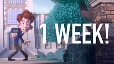 """One more week! """"In a Heartbeat"""" will premier online July Stay tuned for the rest of the countdown to the film's release! Drawn Together, Youtube Sensation, Cartoon Shows, School Boy, Animation Film, In A Heartbeat, Short Film, Love Story, Disney"""