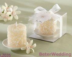 Frete grátis 12 caixa beach party cherry blossom vela casamento favor, festa lembranças beter- lz035