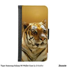 Golden Tiger Wallet Case for Samsung Galaxy S4, S5 or S6
