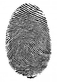 Formato vectorial de la huella dactilar. Foto de archivo - 5168274