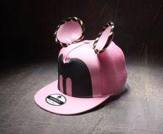 2dd14185d7e Summer Womens Cartoon Cute Big Mouse Ears Eyes Snapback Hats Mesh Cap Hip  Hop Baseball Caps Female Topee Sun Hat For Women