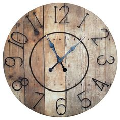 Hang this rustic wall clock above the mantel to create an eye-catching focal point, or let it be the stylish anchor for your dining room sideboard or kitc...