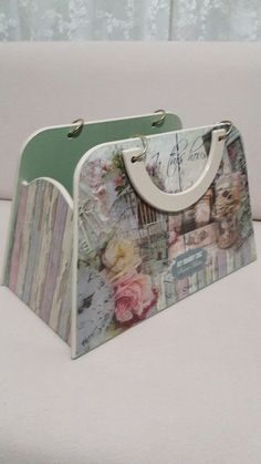 Me gustó mucho esa idea ! Wooden Bag, Wooden Cutouts, Diy Art Projects, Do It Yourself Home, Vintage Images, Painting On Wood, Diy And Crafts, Shabby Chic, Woodworking